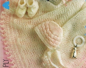 Knitting Pattern For Round Baby Shawl : Baby Shawl Knitted Baby Shawls Baby Round Shawl Pattern