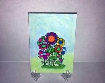 ACEO Art Card-Flowers