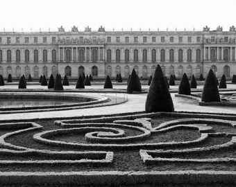 Paris black and white photography, Versailles, Versailles garden, Paris photography, black and white photo, Paris decor, fine art print