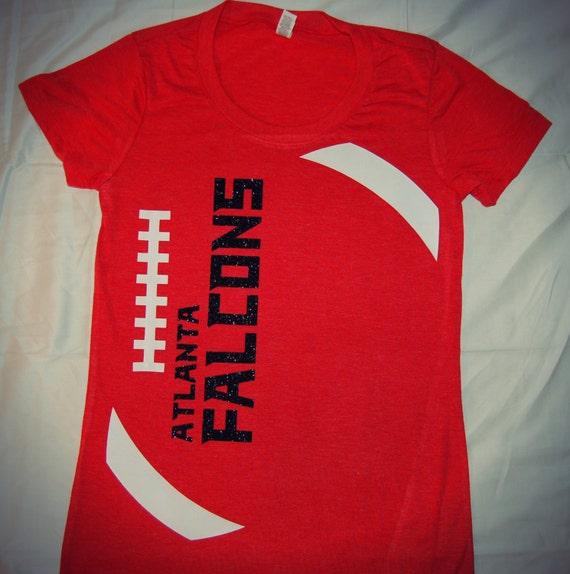 Items similar to atlanta falcons football triblend tshirt for Atlanta custom t shirts