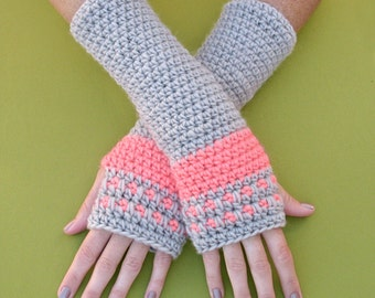 Crochet Pattern - Peachy Arm Warmers - PDF