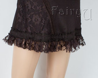 Steampunk Pixie skirt (mini) - Feetjie, lace and lycra (0015)