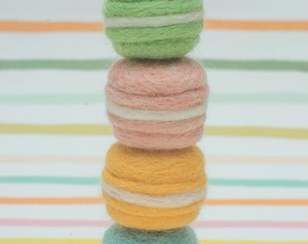 Needle Felted Mini Macarons