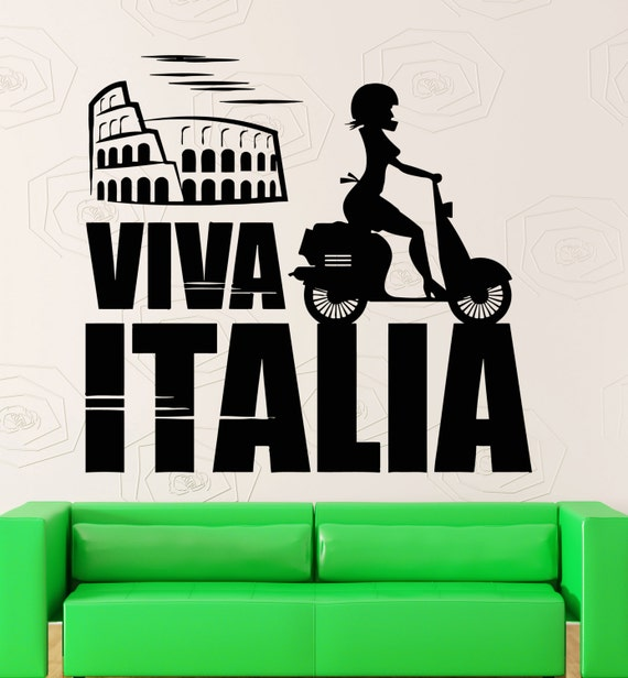 Items similar to wall sticker vinyl decal italy rome for Wall stickers roma