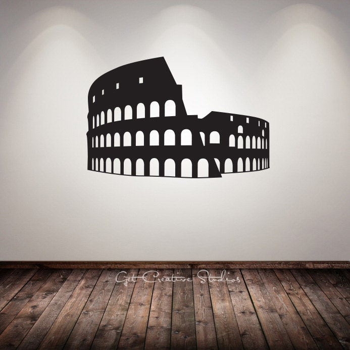 Rome decal gladiator decal colosseum wall decal arena ancient for Wall stickers roma