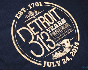 Detroit (313)th Birthday T-Shirt