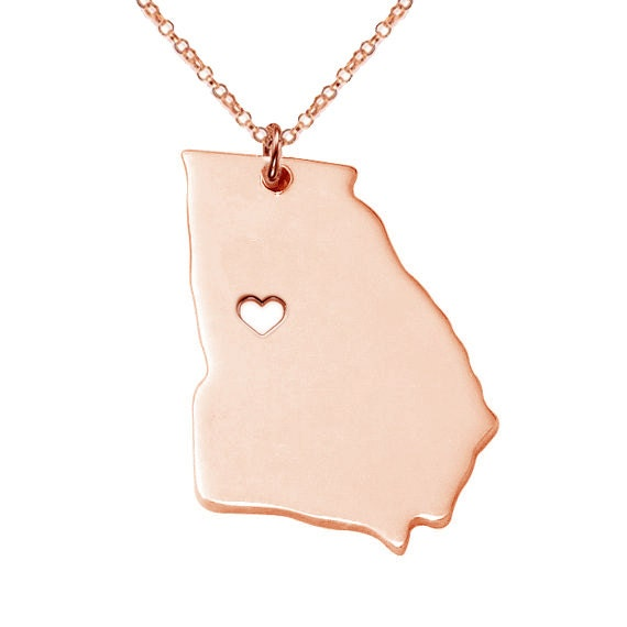 state necklace state shaped necklace ga state charm