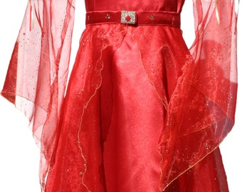 Red or pink satin fairy costume - Picanoc
