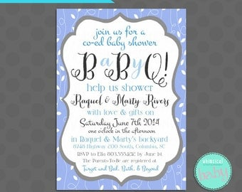 only co ed baby shower printables barbeque bbq jack and jill shower