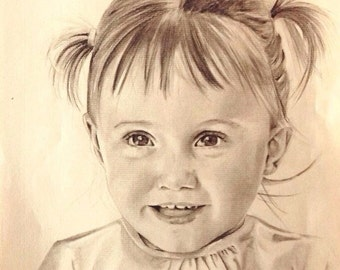 Your Portrait custom from photo graphite 1 person