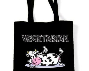 Vegetarian Thats How I Roll Tote Shopping Bag