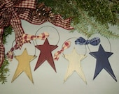 Country Primitive Star Ornament