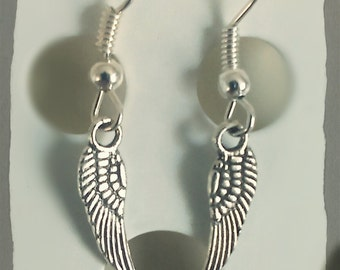 Earthy Tiebetan Style Earings: Angel wing earrings