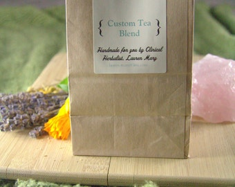 Custom Tea Handcrafted For You by a Clinical Herbalist