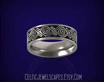 ABERLEMNO Celtic Spiral Wedding Band