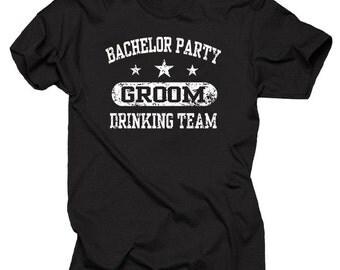 Bachelor Party Groom Drinking Team T-Shirt Wedding Tee Shirt