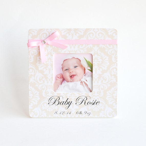 Baby Gift Ideas With Name : Personalized baby picture frame gift new by hellogorgeousdecor