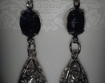 Montana Blue Swarvoski Crystal Earrings =  E155