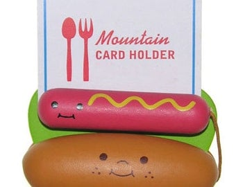 Decole Japan - Handcrafted Wooden Placecard Holders - Hotdog