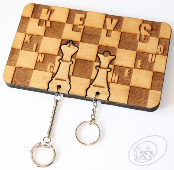 Items Similar To Wall Key Holder Wall Key Holder Chess