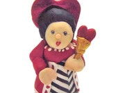 Queen of Hearts Polymer Clay Figure Doll - Alice in Wonderland