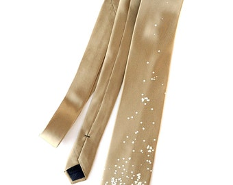 Champagne Bubbles Necktie. Celebrate New Years Eve in style. Champagne & Caviar. Choose standard, narrow or skinny size tie.