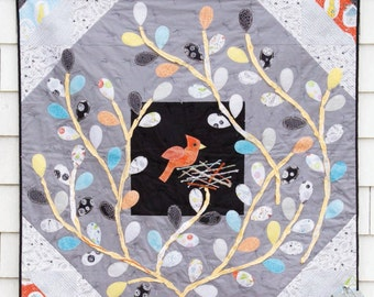 Nest & Tweet Quilt INSTANT DOWNLOAD PDF Sewing Pattern