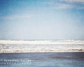 Beach photography, ocean photo, waves, seagull, seaside, landscape,  New Zealand, beach decor, ocean art -  'Days Like These'