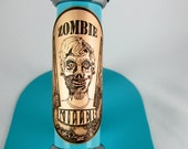 Zombie Killer - bicycle accessories, zombie accessories, bike accessories, bike badge, bicycle head badge, zombie apocalypse, custom badge