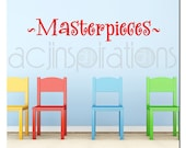 Masterpieces - Childrens Vinyl Wall Art - Room Decor