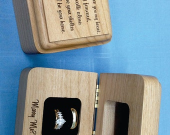 Wedding Ring Box,Engagement Ring Box,Wooden Ring Box,Personalized Ring Box,Wedding Ring Box Holder,