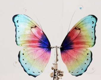 1/6 OOAK Butterfly wings for Dolls -Rainbow