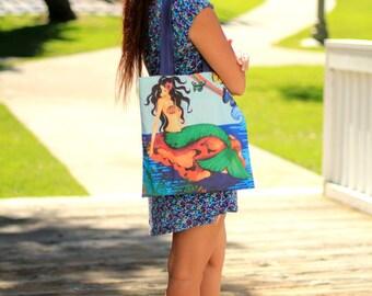 Mademoiselle Mermaid Tote Bag - Mermaid Fantasy Fashion