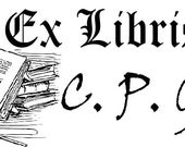 ExLibris - From the Library of - Custom Wooden Handle Rubber Stamp
