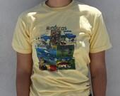 Yellow Honduras Vintage Tee Shirt Mens Unisex Quirky Gift Smal