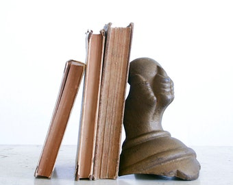 Vintage Claw Foot Bookend / Cast Iron / Single Bookend