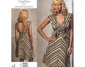 Womens Dress Pattern Vogue 1158 Low Back Dress Bias Cut Skirt Tracy Reese American Designer | Womens Sewing Pattern Size 14 to 20 UNCUT