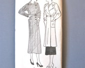 Early 1930s sewing pattern by Pictorial Pattern 6936  Bust 38  Hip 41