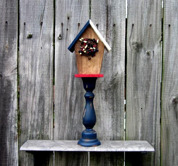 Items Similar To Birdhouse Pedestal Decorative