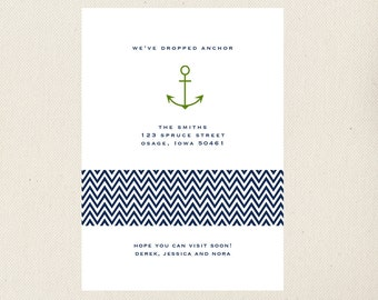 Nautical Moving Announcement