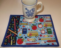 Popular Items For Apple Mug Rug On Etsy
