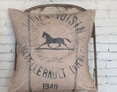 Pillow Cover Vintage Equestrian Horse