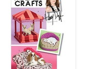 Sew & Make McCall's M5677 Sewing Pattern - Designer Dog Cat Pet Pagoda Gazebo Beds