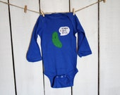 """funny baby bodysuit """"Kinda a Big DILL"""", cute Pickle onesie, fun and unique baby shower gift"""