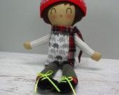 Jake, handmade doll, boy gift, birthday gift, rag doll