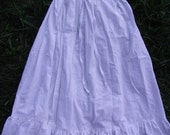 Ruffled Petticoat Skirt with Drawstring or Elastic Waist Options