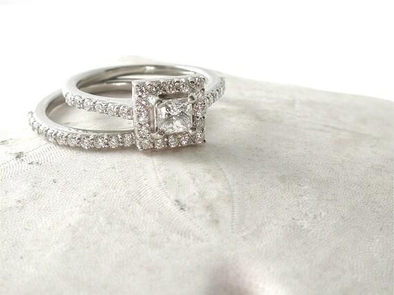princess cut engagement ring halo engagement