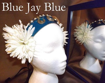 Tribal Fusion ATS Bellydance Headband, Blue Jay Blue