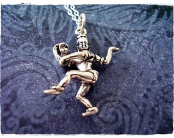Dancing Shiva Necklace - Sterling Silver Dancing Shiva Charm on a Delicate Sterling Silver Cable Chain or Charm Only