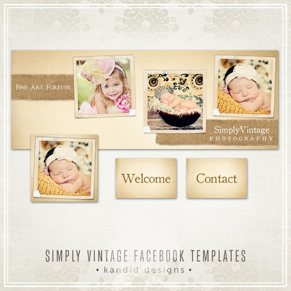 Simply Vintage Facebook Timeline Templates